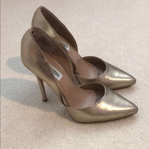 Gold Steve Madden D'orsay Heels